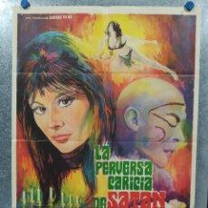 Cine: LA PERVERSA CARICIA DE SATÁN. SILVIA SOLAR, OLIVIER MATHOT, DANIEL MARTÍ AÑO 1973. POSTER ORIGINAL . Lote 190241083