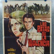 Cine: LAS RATAS DE LA VIOLENCIA. HORST BUCHHOLZ, SYLVA KOSCINA AÑO 1972. POSTER ORIGINAL. Lote 190242677