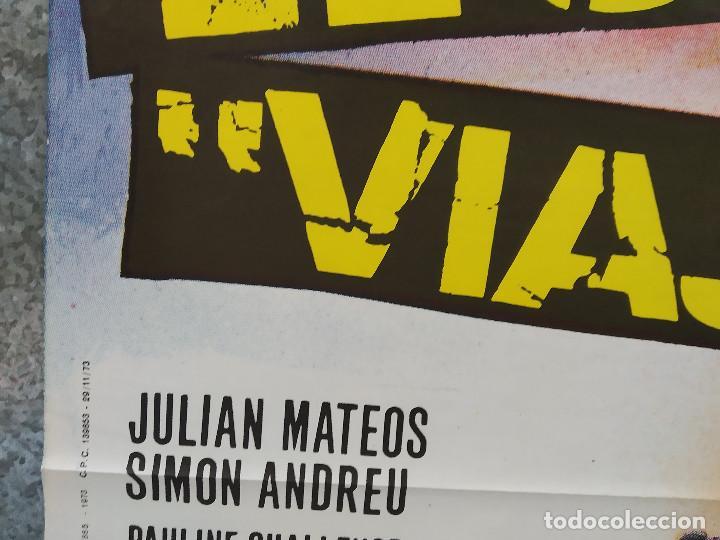 Cine: EL ULTIMO VIAJE. JULIAN MATEOS, SIMON ANDREU. AÑO 1973 . POSTER ORIGINAL - Foto 6 - 190272808