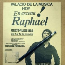 Cinema: RAPHAEL - PALACIO DE LA MUSICA - 28 X 21 CM - 1969. Lote 190437975
