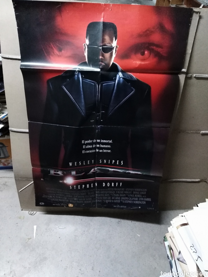 Blade Wesley Snipes Poster Original 70x100 Yy Buy Horror Film Posters At Todocoleccion 190456372