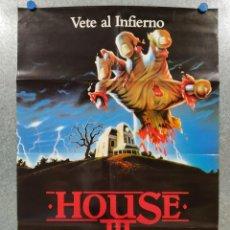 Cine: HOUSE III. LANCE HENRIKSEN, BRION JAMES, RITA TAGGART . POSTER ORIGINAL. Lote 190463358