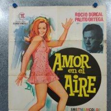 Cine: AMOR EN EL AIRE. ROCÍO DURCAL. AÑO 1967. POSTER ORIGINAL. Lote 190464567