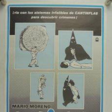Cine: CARTEL ANTIGUO EL SIGNO DE LA MUERTE CANTINFLAS. Lote 190498976