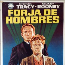 Cine: FORJA DE HOMBRES. SPENCER TRACY-MICKEY ROONEY. CARTEL ORIGINAL DE 1972. 70X100. Lote 190573998