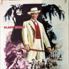 Cine: LA ESCLAVA LIBRE. CLARK GABLE-YVONNE DE CARLO. CARTEL ORIGINAL 1960. Lote 190574516