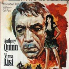 Cine: LA HORA 25. ANTHONY QUINN-VIRNA LISI. CARTEL ORIGINAL 1967. 70X100. Lote 190590773