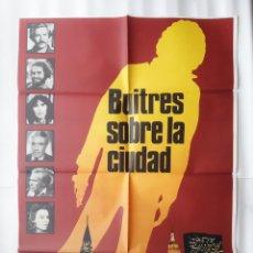 Cine: CARTEL CINE BUITRES SOBRE LA CIUDAD 1981 C 530. Lote 190608587
