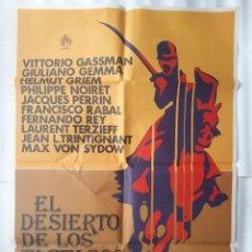 Cine: CARTEL CINE EL DESIERTO DE LOS TARTAROS 1977 C 532. Lote 190609310