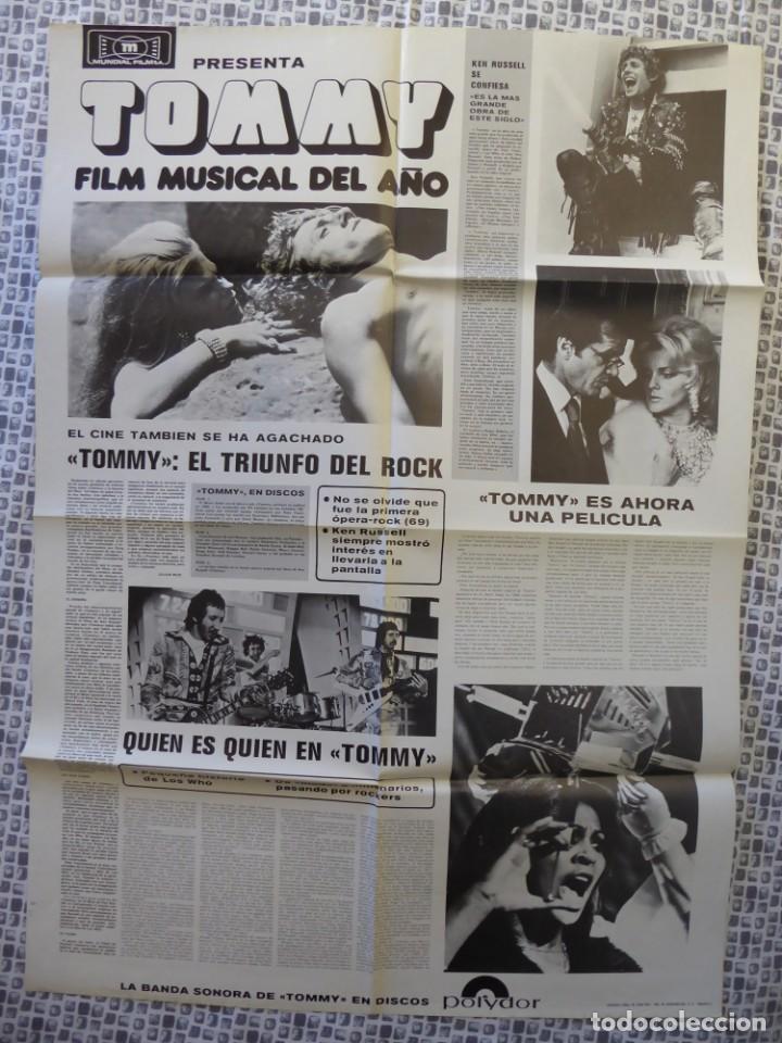 Cine: Roger Daltrey (The Who) en la película Tommy - poster de El Gran Musical de 84 x 61 cm. - Foto 2 - 190620953