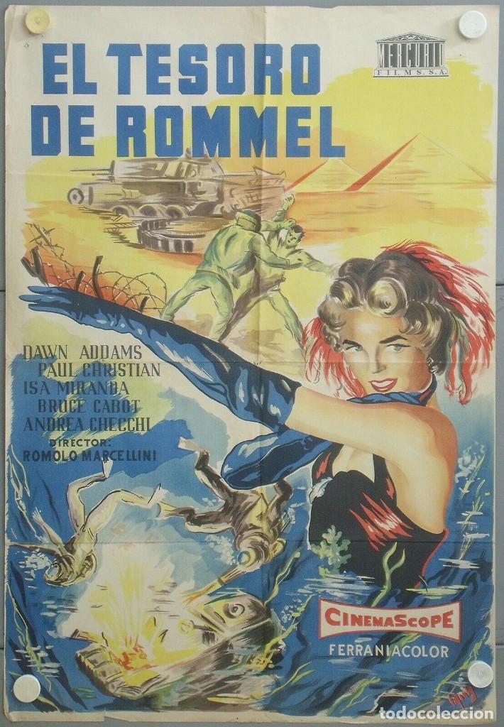 RJ96D EL TESORO DE ROMMEL DAWN ADDAMS POSTER ORIGINAL 70X100 ESTRENO LITOGRAFIA (Cine - Posters y Carteles - Aventura)