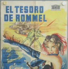 Cinema: RJ96D EL TESORO DE ROMMEL DAWN ADDAMS POSTER ORIGINAL 70X100 ESTRENO LITOGRAFIA. Lote 190644860