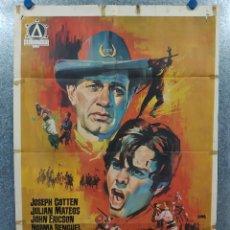 Cine: LOS DESPIADADOS. JOSEPH COTTEN, JULIÁN MATEOS. AÑO 1967. POSTER ORIGINAL. Lote 190761048