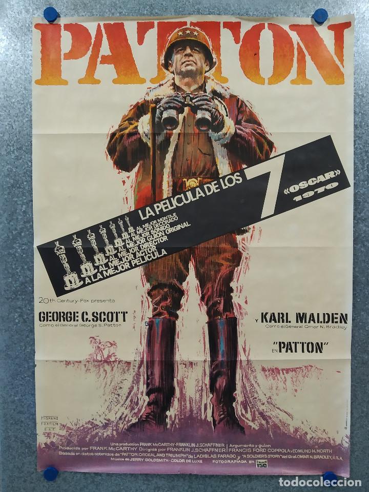 PATTON. GEORGE C. SCOTT, KARL MALDEN, STEPHEN YOUNG. AÑO 1971. POSTER ORIGINAL (Cine - Posters y Carteles - Bélicas)
