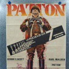 Cinema: PATTON. GEORGE C. SCOTT, KARL MALDEN, STEPHEN YOUNG. AÑO 1971. POSTER ORIGINAL. Lote 190765445