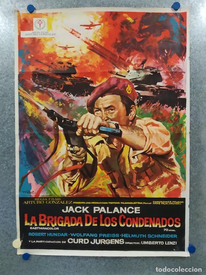 LA BRIGADA DE LOS CONDENADOS CURD JÜRGENS, JACK PALANCE. AÑO 1970. POSTER ORIGINAL (Cine - Posters y Carteles - Bélicas)