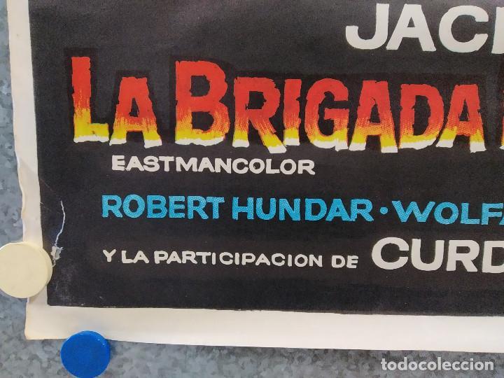 Cine: La brigada de los condenados Curd Jürgens, Jack Palance. AÑO 1970. POSTER ORIGINAL - Foto 8 - 190766848