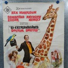 Cine: EL EXTRAVAGANTE DOCTOR DOLITTLE REX HARRISON, SAMANTHA EGGAR. AÑO 1967. POSTER ORIGINAL. Lote 190767138