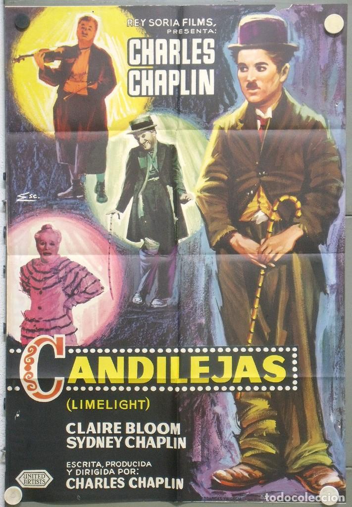 RC05D CANDILEJAS CHARLES CHAPLIN LIMELIGHT ESCOBAR RARO POSTER ORIGINAL 70X100 ESPAÑOL B (Cine - Posters y Carteles - Comedia)