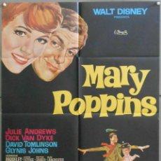 Cine: WZ88D MARY POPPINS JULIE ANDREWS WALT DISNEY POSTER ORIGINAL ESTRENO 70X100. Lote 190772158