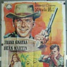 Cine: WD15D 4 TIOS DE TEXAS FRANK SINATRA DEAN MARTIN URSULA ANDRESS POSTER ORIG 3 HOJAS 100X205 ESTRENO. Lote 190801501