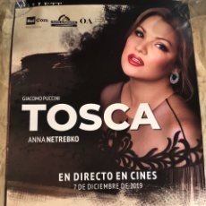 Cine: TOSCA TEATRO ALLA SCALA RARO PÓSTER CINE 70X100CM OPERA. Lote 190812116