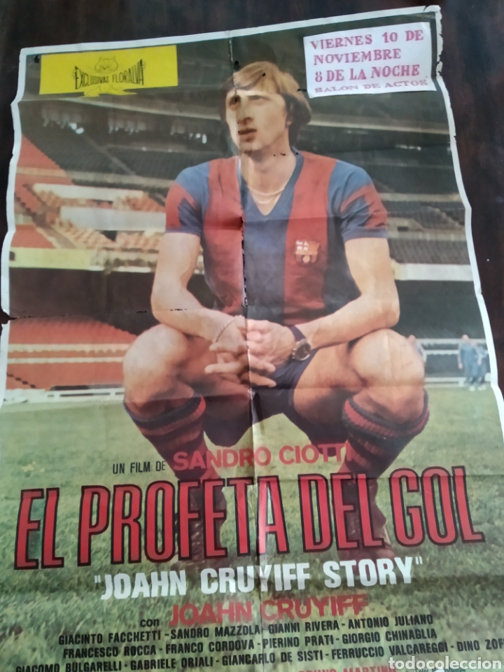 POSTER JOHAN CRUYFF EL PROFETA DEL GOL (Cine - Posters y Carteles - Deportes)