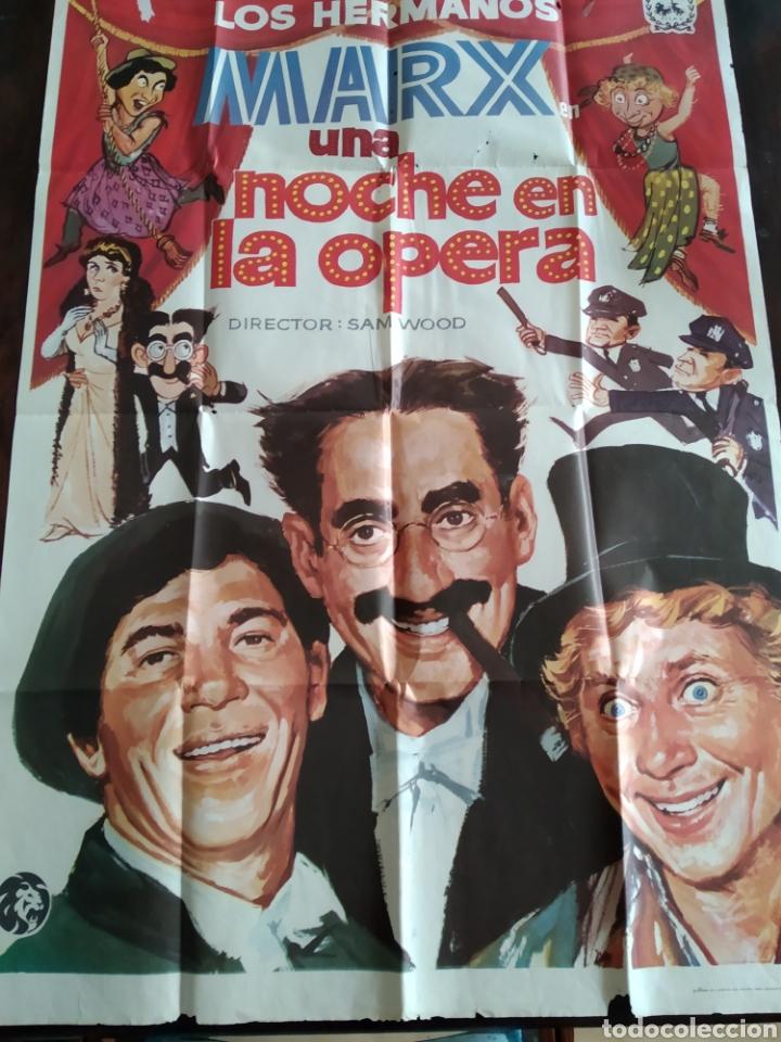 POSTER LOS HERMANOS MARX - UNA NOCHE EN LA OPERA (Cine - Posters y Carteles - Comedia)