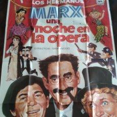 Cine: POSTER LOS HERMANOS MARX - UNA NOCHE EN LA OPERA. Lote 190832052
