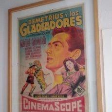 Cine: DEMETRIO Y LOS GLADIADORES, CARTEL ORIGINAL DEL ESTRENO. Lote 190883761