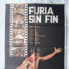 Cine: CARTEL CINE FURIA SIN FIN BRUCE LI 1981 C541. Lote 190921010