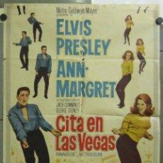 Cine: AAB57 CITA EN LAS VEGAS ELVIS PRESLEY ANN-MARGRET AUTOMOVILISMO POSTER ORIG ESTRENO 70X100. Lote 190977316