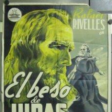 Cine: AAB63 EL BESO DE JUDAS RAFAEL RIVELLES FRANCISCO RABAL RAFAEL GIL POSTER ORIG 70X100 LITOGRAFIA B. Lote 190980593