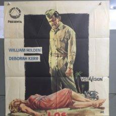 Cine: AAB92 LOS HEROES TAMBIEN LLORAN WILLIAM HOLDEN DEBORAH KERR POSTER ORIGINAL 70X100 ESTRENO. Lote 190982651