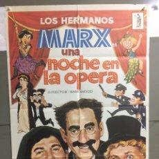 Cine: AAB86 UNA NOCHE EN LA OPERA HERMANOS MARX POSTER ORIGINAL 70X100 ESPAÑOL R-81. Lote 190984077