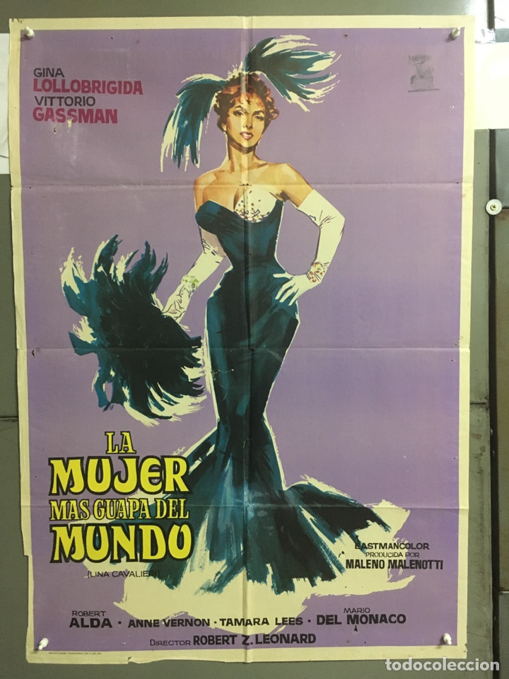 AAB94 LA MUJER MAS GUAPA DEL MUNDO GINA LOLLOBRIGIDA POSTER ORIGINAL 70X100 ESPAÑOL (Cine - Posters y Carteles - Comedia)