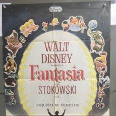 Cine: AAC01 FANTASIA WALT DISNEY MICKEY MOUSE STOKOWSKI POSTER ORIGINAL 70X100 ESPAÑOL. Lote 190989000