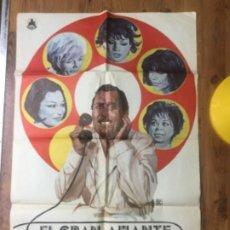 Cine: POSTER ORIGINAL - EL GRAN AMANTE - 1975 - ALBERTO SORDI - CASTILLA FILMS - 99X68,5CM. Lote 191040052
