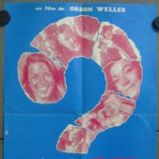Cinema: AAB73 QUESTION MARK FACE ORSON WELLES PICASSO HOWARD HUGHES POSTER ORIGINAL 35X50 ESTRENO. Lote 191075036