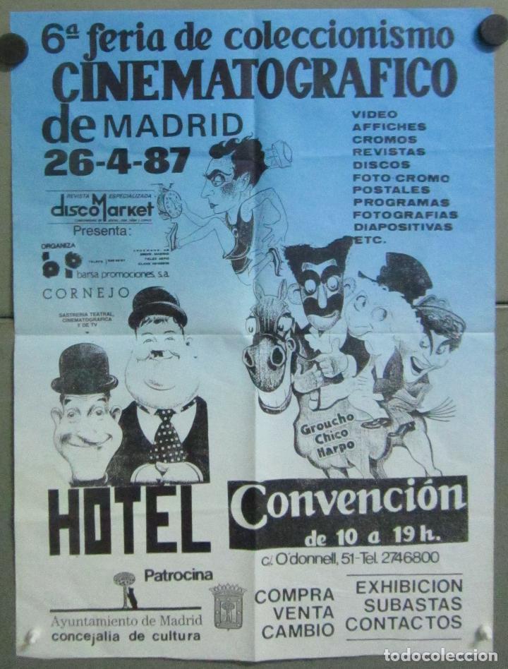 AAB74 BUSTER KEATON MARX LAUREL HARDY POSTER FERIA COLECCIONISMO CINEMATOGRAFICO MADRID 1987 65X95 (Cine - Posters y Carteles - Comedia)