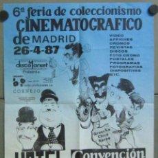 Cine: AAB74 BUSTER KEATON MARX LAUREL HARDY POSTER FERIA COLECCIONISMO CINEMATOGRAFICO MADRID 1987 65X95. Lote 191077308