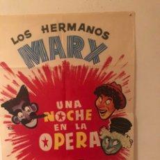 Cine: CARTEL. UNA NOCHE EN LA ÓPERA ( HERMANOS MARX). Lote 191086610