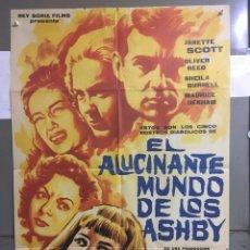 Cine: AAC27 EL ALUCINANTE MUNDO DE LOS ASHBY PARANOIAC HAMMER FREDDIE FRANCIS POSTER ORIG ESTRENO 70X100. Lote 191088582