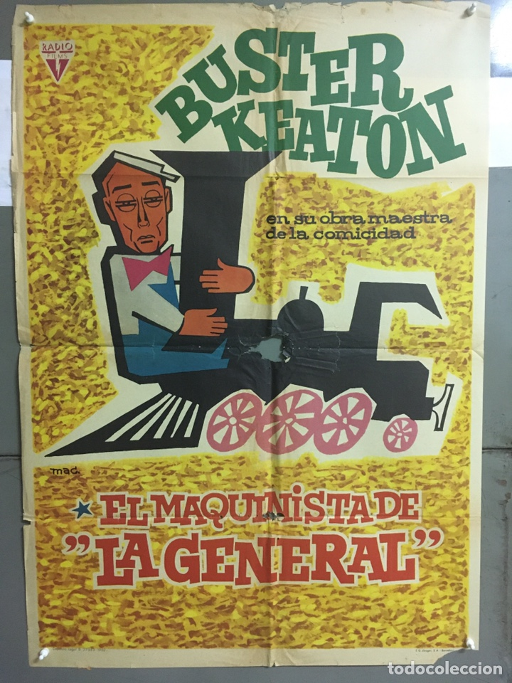 AAC30 EL MAQUINISTA DE LA GENERAL BUSTER KEATON MAC POSTER ORIGINAL 70X100 ESPAÑOL R-62 (Cine - Posters y Carteles - Comedia)
