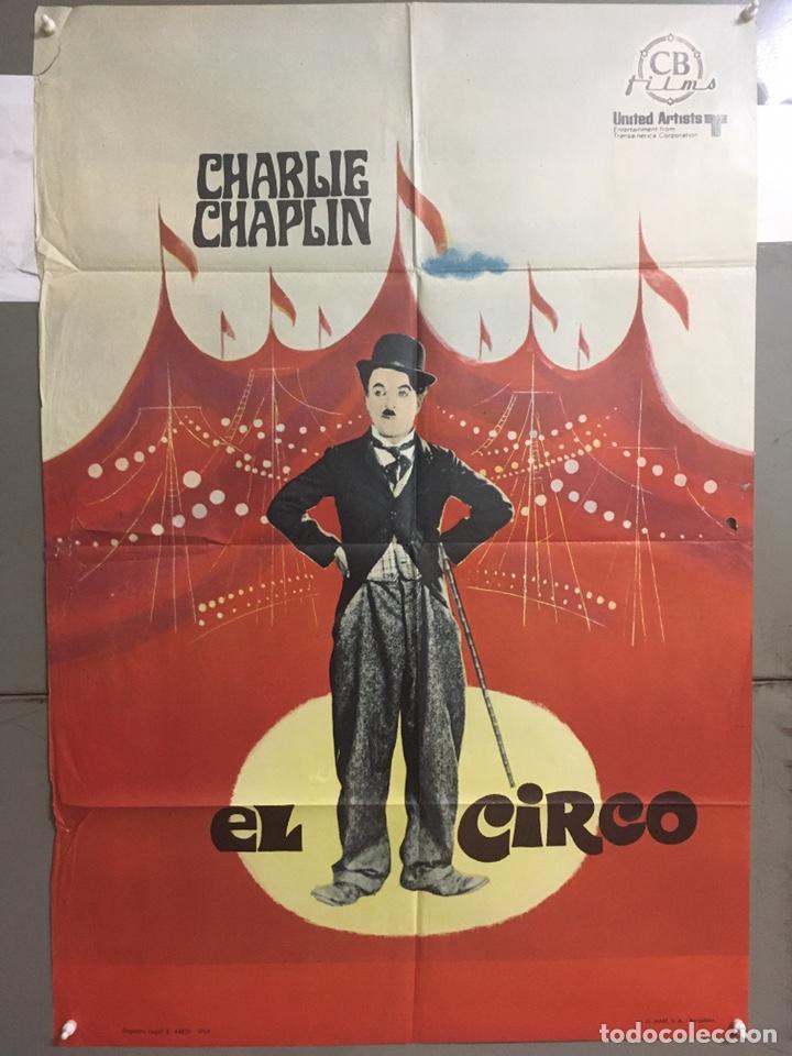 AAC35 EL CIRCO CHARLES CHAPLIN CHARLOT POSTER ORIGINAL ESPAÑOL 70X100 R-69 (Cine - Posters y Carteles - Comedia)