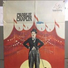 Cine: AAC35 EL CIRCO CHARLES CHAPLIN CHARLOT POSTER ORIGINAL ESPAÑOL 70X100 R-69. Lote 191094470