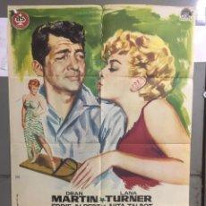 Cine: AAC40 TRAMPA A MI MARIDO DEAN MARTIN LANA TURNER POSTER ORIGINAL DEL ESTRENO 70X100. Lote 191096260
