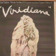 Cine: POSTER CARTEL VIRIDIANA LUIS BUÑUEL. CARTEL DE IVÁN DE ZULUETA. ORIGINAL. Lote 191249078