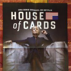 Cine: POSTER HOUSE OF CARDS + RALPH ROMPE INTERNET. Lote 191290005