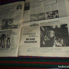 Cine: ANUNCIO CARTEL DÍA ESTRENO BLADE RUNNER Y CURSO 1984. DIARIO EL ALCÁZAR 30-1-1983. BUEN ESTADO.. Lote 191297326